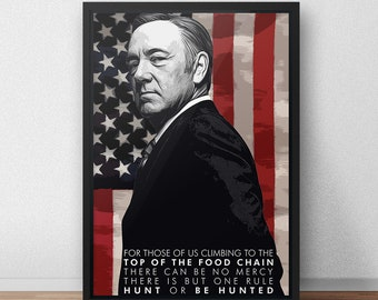 House of Cards Claire UNDERWOOD Poster Photo Painting Artwork on CANVAS Wall Art