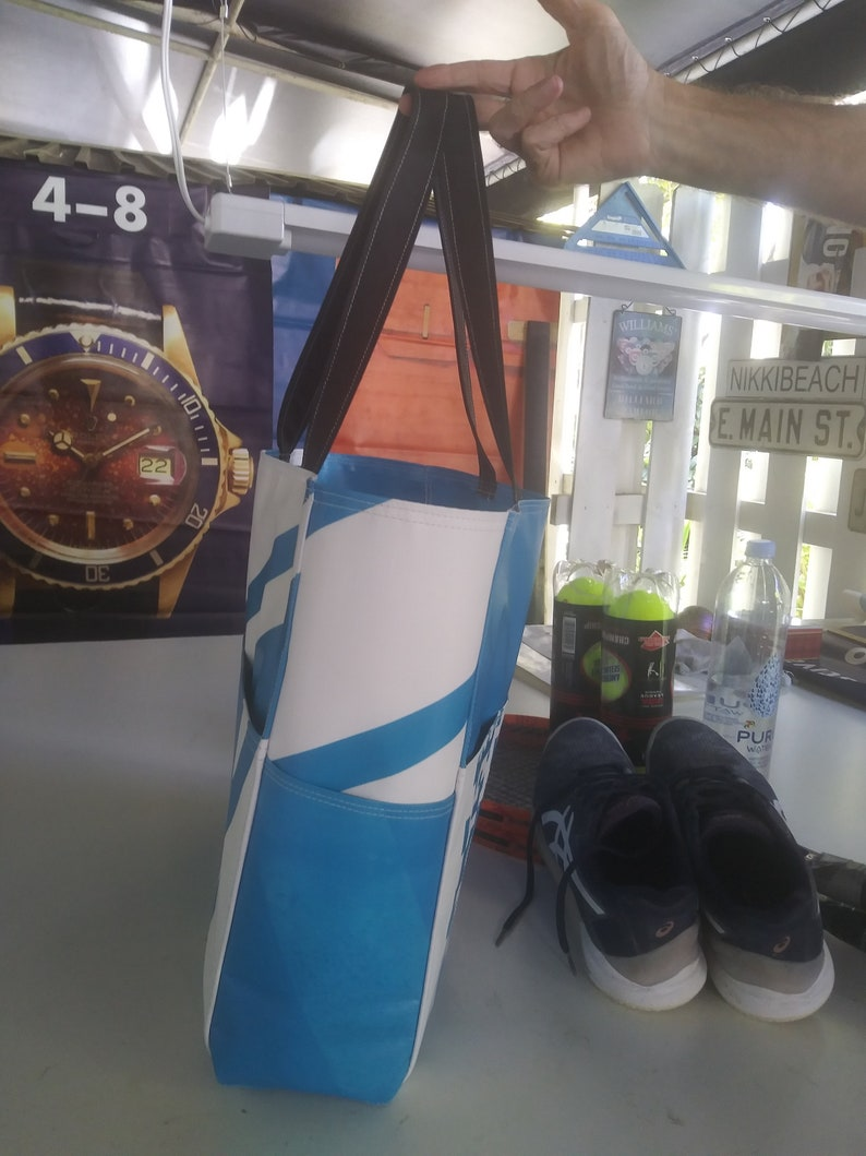 Tennis Bag Extraordinaire From Vinyl Banners From the Design Shop of Chris M. 2 Inside Sleaves for 2 Racquets