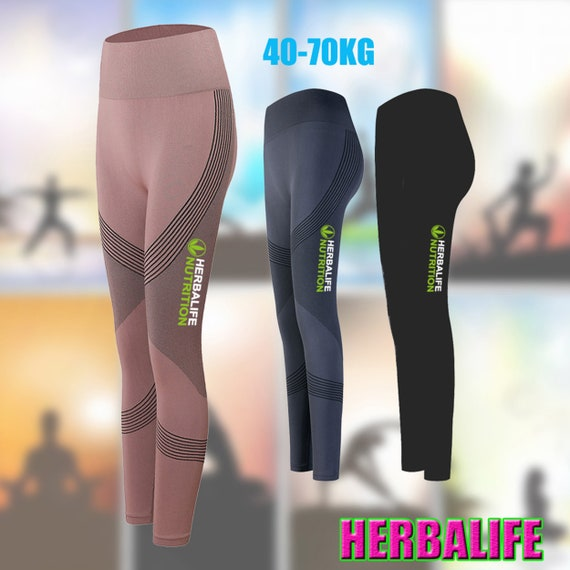 Beautiful Gift HERBALIFE Women Sports Pants Fitness Compression Leggings Running Gym Trousers Sport Ware Yoga Pant Printed Tight Bottoming