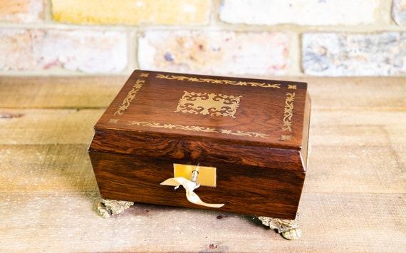 Regency Brass Inlay Table Box 1820