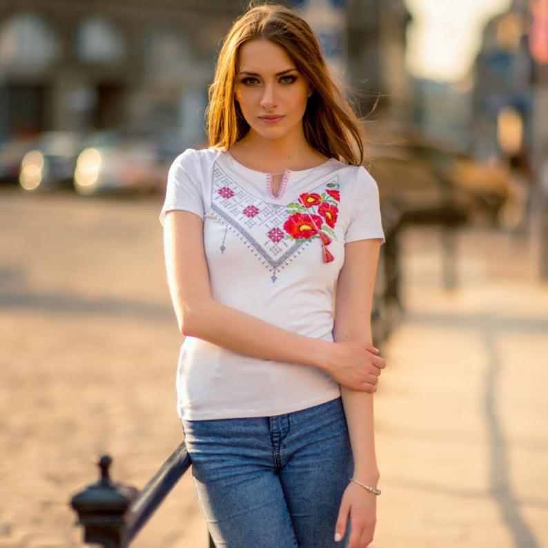 S,XL Handmade tee short sleeve Women/'s embroidery vyshyvanka cotton Vintage clothing Women/'s Clothing vyshyvanka T Ukrainian vintage
