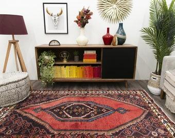 Home Decor Vintage Rug Bohemian Rug Turkish Rug Carpet Area Rug 142 x 99 cm  4.7 x 3.2 ft Wool Rug Kilim