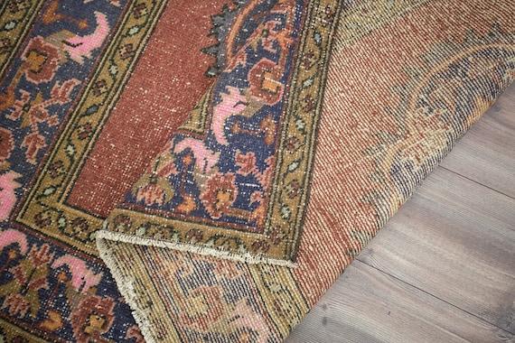 Area Rug Kilim Home decor Wool rug Turkish rug Carpet Handmade rug Vintage rug 4.3 x 6.4 ft = 133 x 198 cm