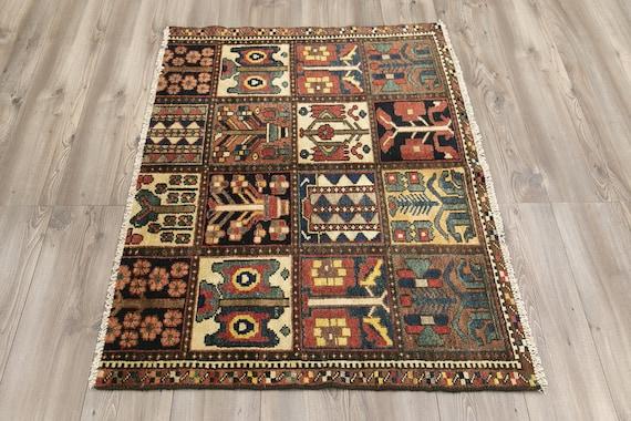 3.2 x 5.10 ft Anatolian Rug,Oushak Rug,Turk\u0131sh Rug,Vintage Rug,Handmade Rug,Natural Rug,Old Rug,Bohemian Rug,Boho Rug,Wool Rug