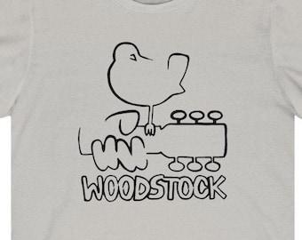 WOODSTOCK 1969 Classic Rock Concert T-Shirt, PEACE Love Hippie Tee, Retro Vintage 1970s All Cotton Eco Friendly Shirt