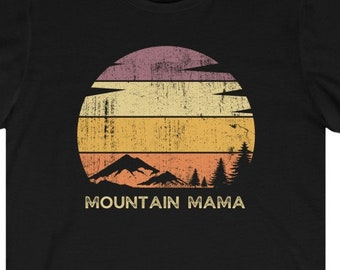 MOUNTAIN MAMA Country Roads Shirt, Retro Classic Rock Lyrics Tee, John Denver Songs, 100% Eco Friendly Cotton