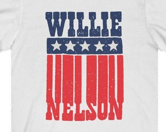 WILLIE NELSON Patriotic T-Shirt, Red White and Blue USA Country Tee, Retro Vintage Classic Country Music Shirt