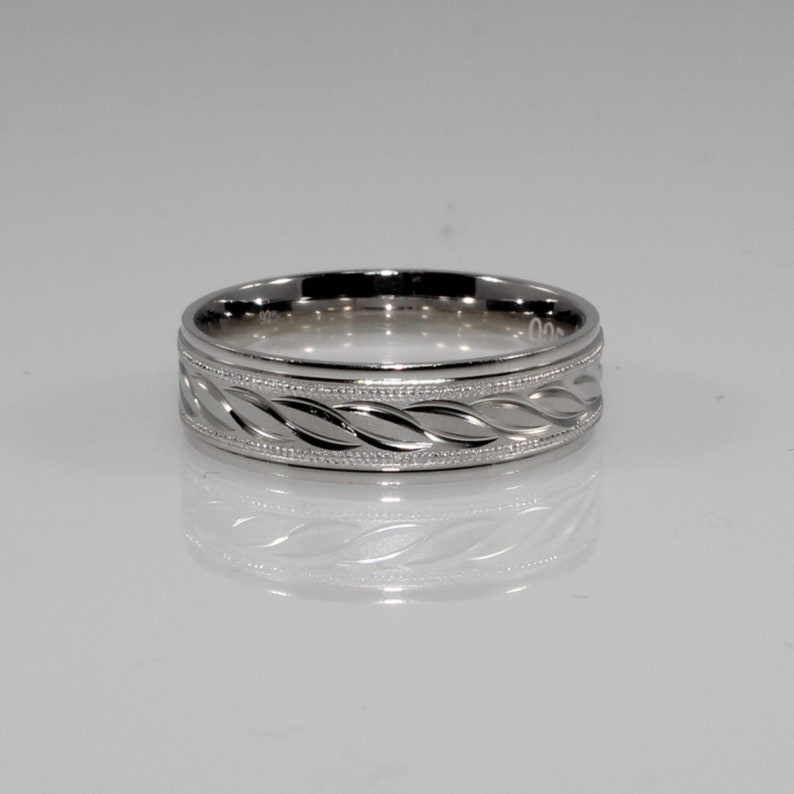 6mm Wide 925 Sterling Silver Comfort Fit Ring Wedding Band