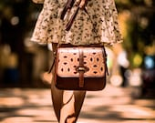 Handcrafted Leather Saddle Bag