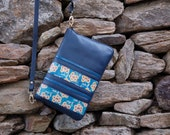 Sling bag, Handcrafted leather sling, Hand painted leather bag