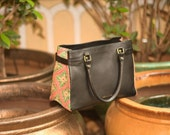 Tote bag, Handcrafted leather bag, Hand painted leather bag