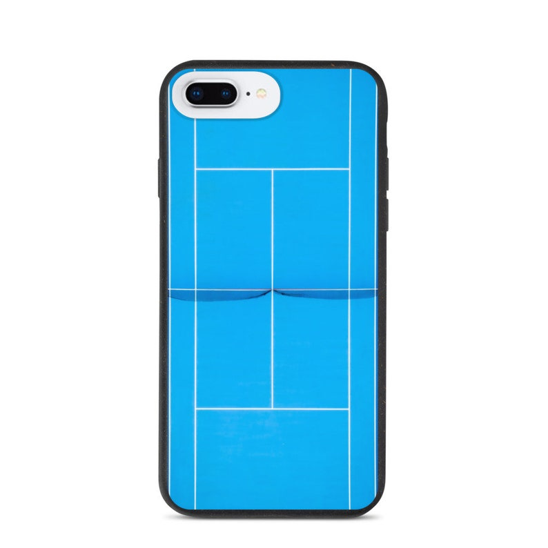 Biodegradable iPhone case Blue tennis court