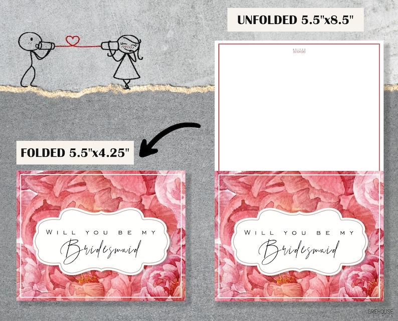 Will You Be My Bridesmaid cards Bridesmaid proposal printable cards Tropical Wedding printables Asking Bridesmaid Be My Maid Of Honor