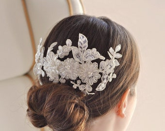 Hair ripe black lace flowers plain hair ornament headdress