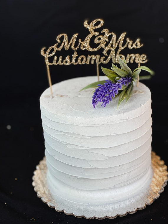 Mr /& Mrs Gold Cake Topper Decoration AnniversaryWedding Paper Cake Pick Topper