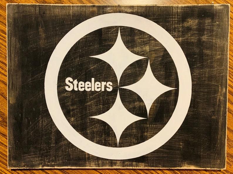 half off d5113 238f5 Custom blackout Steelers sign