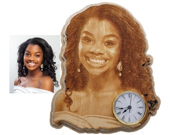 Personalized Image Engraving in a Unique Shape with a Clock