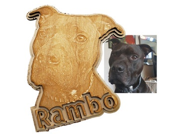 Personalized Dog Engraving  with Pet's Name laser cut into the unique shape