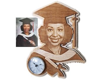 Graduation Personally Shaped Plaque with Clock