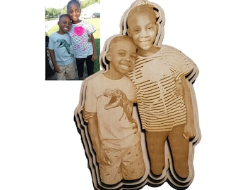 Personalized Image Engraving with Unique Shape
