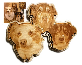 Pet Personally Shaped Plaque with Image Merge Options