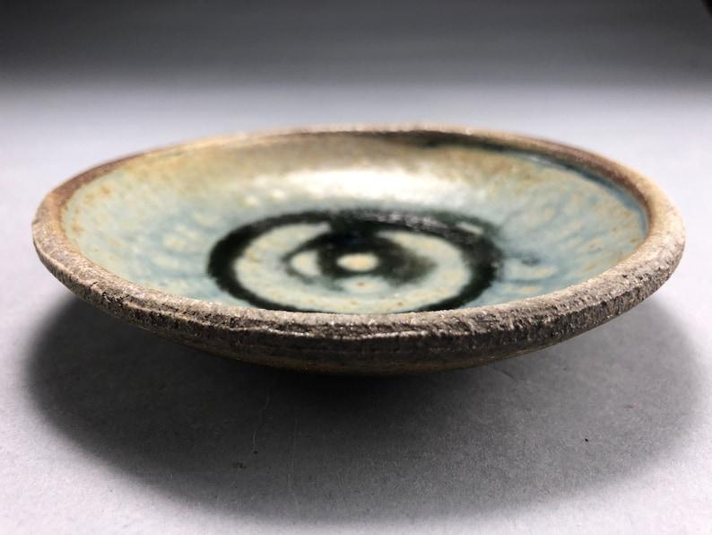 Wood Fired Trinket Dish with Blue Ash Glaze