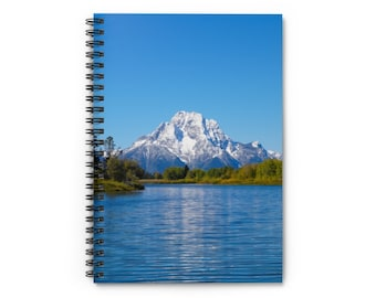 Spiral Notebook - Ruled Line - Mount Moran and the Snake River