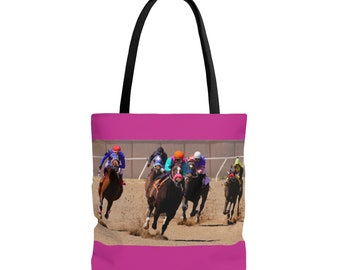 Tote Bag - Large - Coming Down the Home Stretch - Choice of Colors