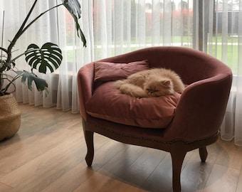 Luxury Pet Sofa, Orthopedic And Self Heated Pet Bed