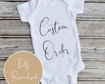 Mummy and Baby Contrast Trim Baby Vest Unicorn Baby Baby Shower Gift New Baby Girl Personalised Name Baby Vest Baby Hamper Beautiful