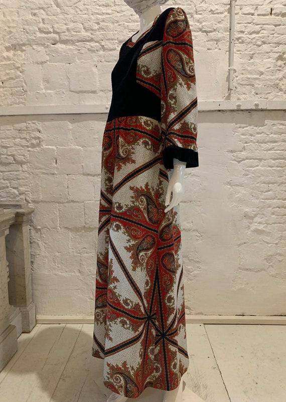 Vintage 1970s paisley prairie maxi dress....Batshe