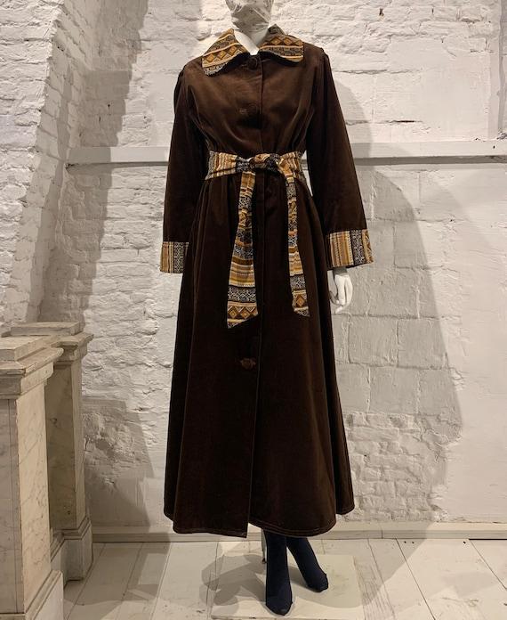 1970/'s Vintage Metallic Floral Full Length Rayon Crepe Kimono Robe Duster Jacket
