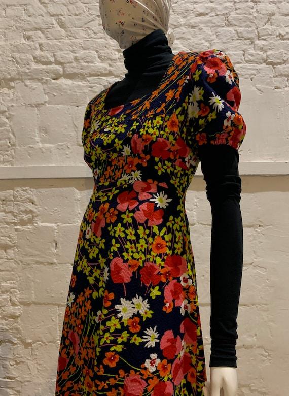 Vintage 1970s prairie floral maxi dress...the vamp