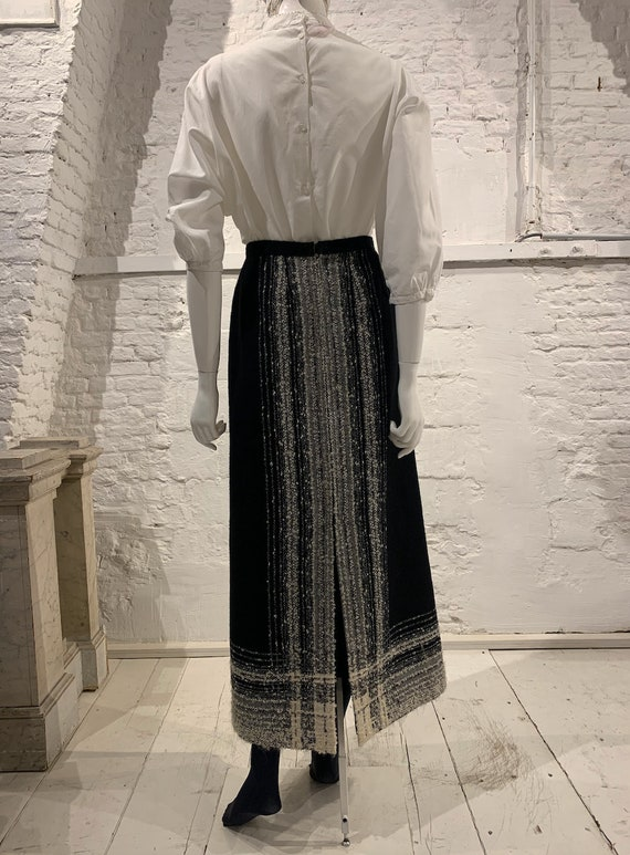 Vintage 1970s wool maxi skirt Arola Finland Maxi .