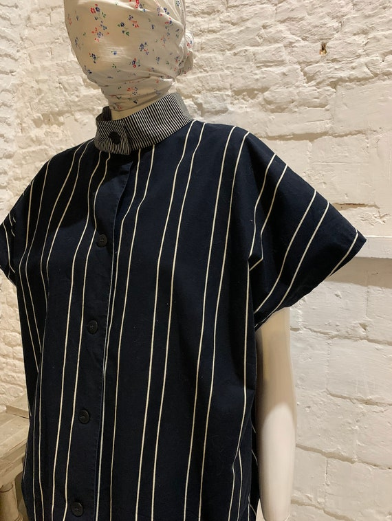 Vintage Marimekko striped cotton sleeveles oversiz