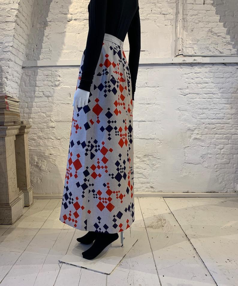 Vintage 1970s cotton prairie maxi skirt