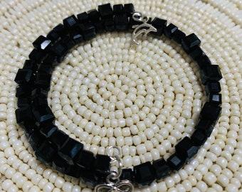 Women's Beaded Coil Bracelet  Glass Crystal  *304