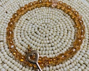 Women's Beaded Coil Bracelet  Glass Crystal  *299
