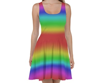 49e4783a1183e Rainbow Ombre Skater Dress - LGBTQ - Gay Pride - Retro Dress - Vintage Dress  - LGBT - LGBTQIA - Women's Dress - Summer Dress