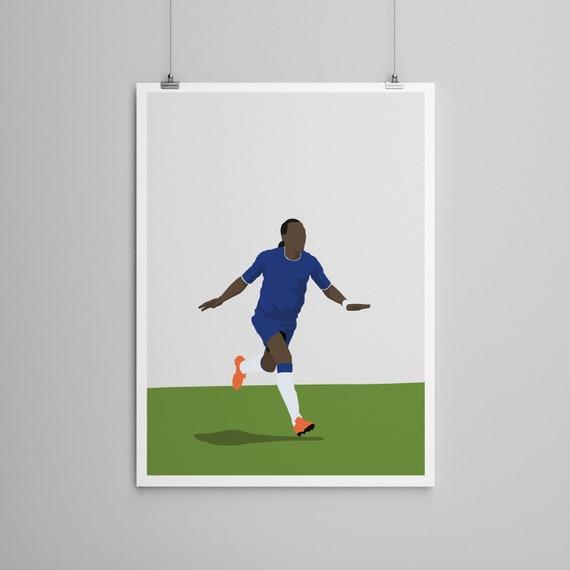 Chelsea Soccer Art Drogba Poster