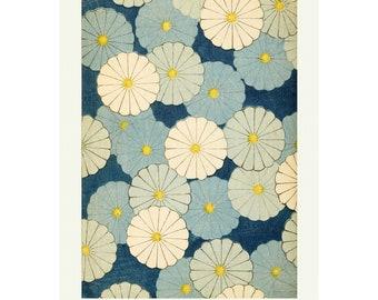Vintage Japanese Poster Wall Art Decor, Japanese Botanical Flower Print,  1902 Pattern Art Print Shin-Bijutsukai A3/A4 Framed / Unframed