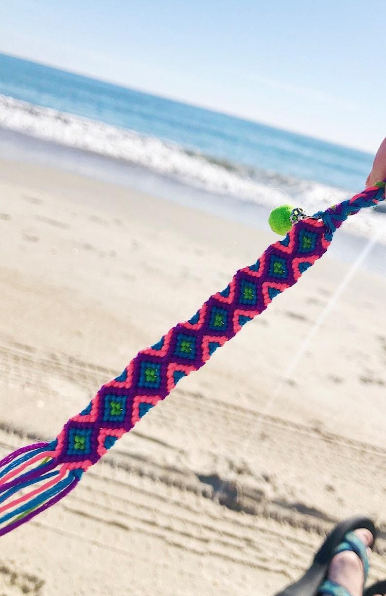 Pattern Friendship Bracelet with Charm