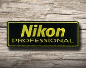 NIKON Embroidered Patch Iron on DIY Decorate Clothes Clothing Vest Jacket Coat Cap Shirt Denim Jean Bag Hobby, Professional Camera