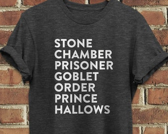 310b541f Stone Chamber Prisoner Goblet Order Hallows Prince - Wizard Magic Tee - Harry  Potter Inspired - Unisex Graphic T-Shirt