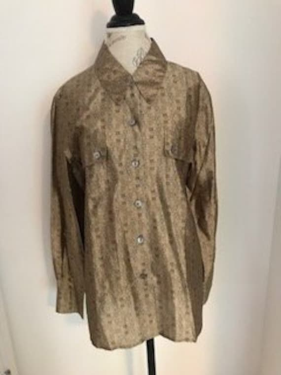 1990s Vintage 100% Silk Blouse by Designer Escada… - image 1