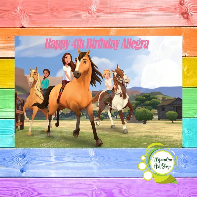 Spirit Riding Free Birthday Banner 60x 40 Party Etsy