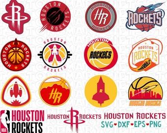 5c5e9ba2fe7d Houston Rockets Svg NBA svg Basketball Logo Svg Files Cut files Vector Cut  File Basketball svg CriCut Silhouette Cameo Instant download