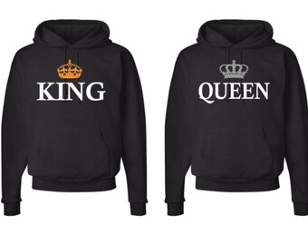 03e6c0eb3704 king and queen hoodies , king and queen shirts ,king queen hoodies, couples matching  hoodies
