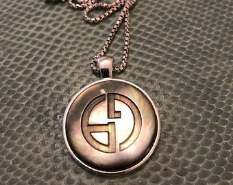 3ea597f9e Large Silver Gucci Charm Pendant Necklace