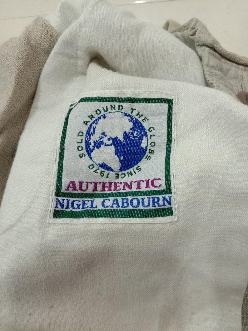 vintage 90s nigl cabourn workwear army military vtg pant british fashion designer size 28-34